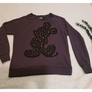 Disney Mickey Mouse Studded Pullover Cardigan